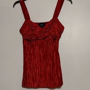 Red satin women's top